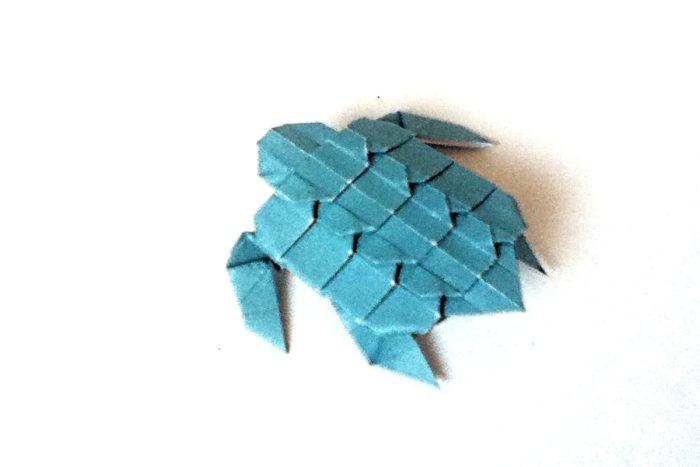 Оригами морская черепашка по схеме Neige A.