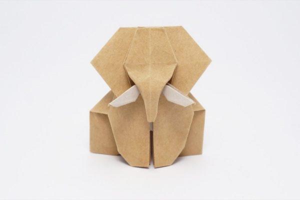Оригами простой слон по схеме Джо Накашима (Jo Nakashima)