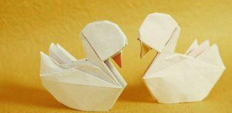 Оригами утка по схеме Генри Фама (Henry Pham)