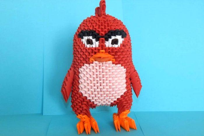 Оригами объемный Red из Angry Bird