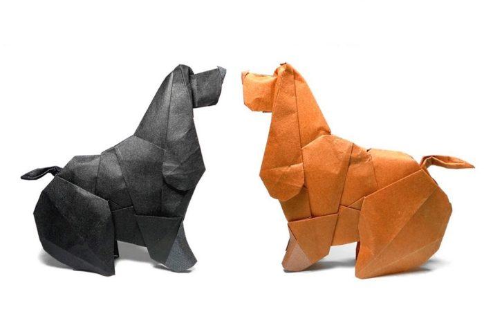 Оригами коккер-спаниель <strong>божья коровка оригами схемы</strong> по схеме Барта Дункана (Barth Dunkan)