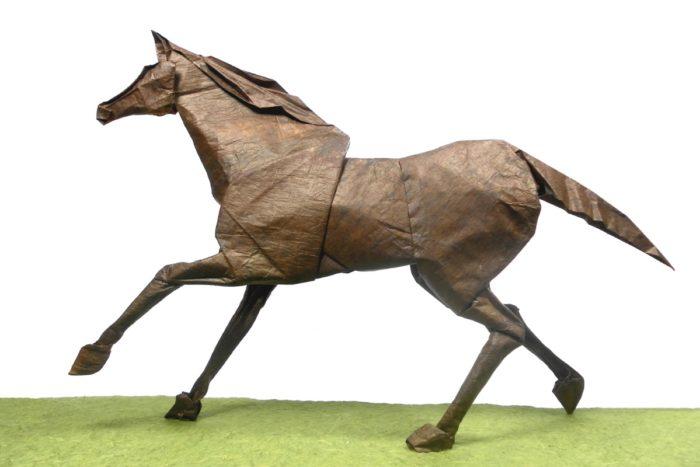 Оригами лошадь по схеме Элвера Вентуры (Elver Ventura)