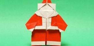 Оригами Дед Мороз по схеме Хидео Коматсу (Hideo Komatsu)