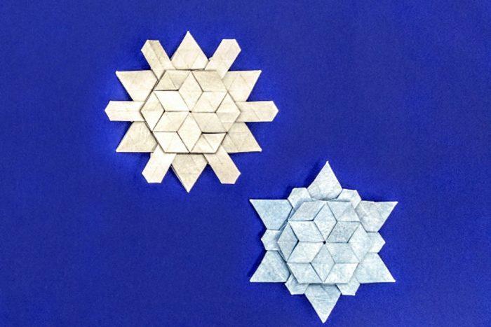 Оригами снежинка по схеме Мелины Хермсен (Melina