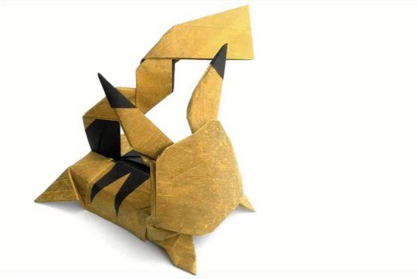 Оригами Пикачу по схеме Козаса Кеичи (Kozasa Keiichi)