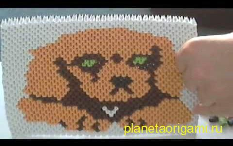 3d Origami Puppy painting