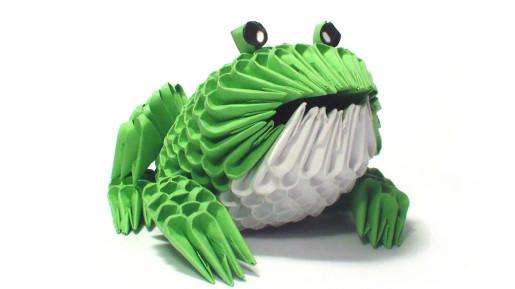 3D лягушка из модулей