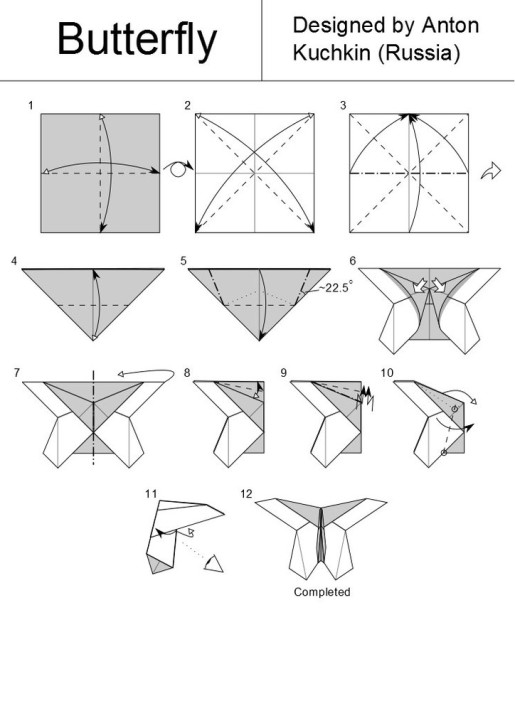 схема сборки бабочки от антона кучкина