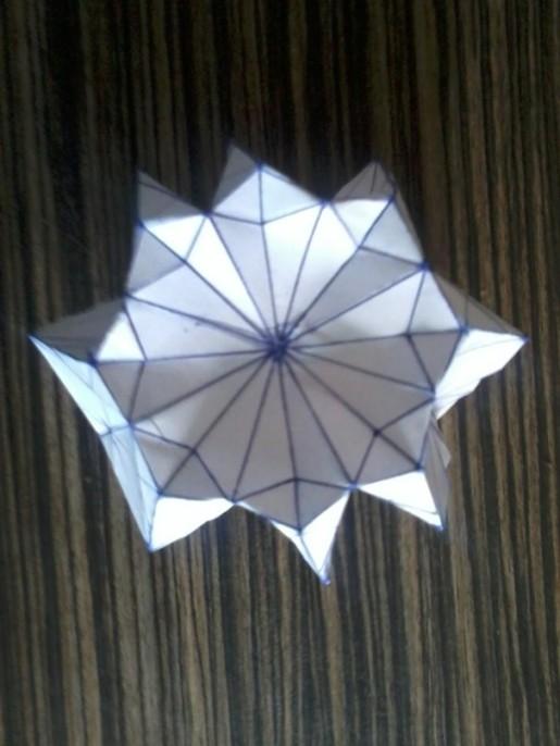 6 авторская бумажная медуза