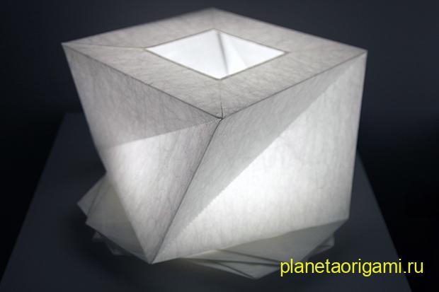 оригами лампы иссея мияке