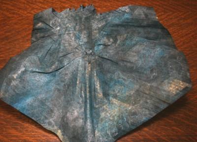 маска оригами в процессе