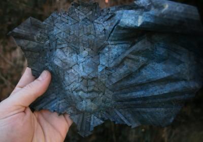 Маска оригами Жоеля Купера