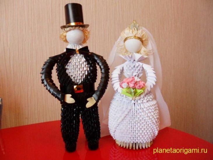Жених и невеста из модулей от