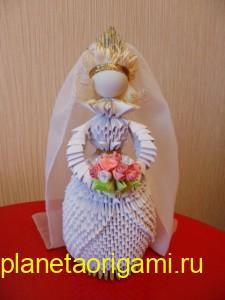 модульная невеста оригами