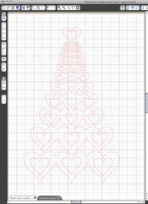 киригами шаблон сердце