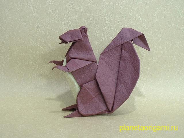 Оригами белочка