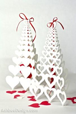 Сердечное дерево киригами