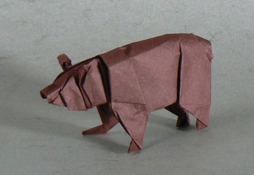оригами медведь по схеме Stephen Weiss