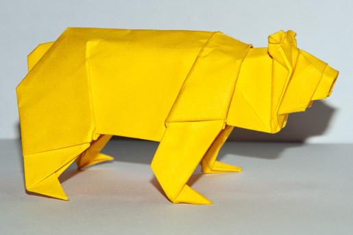 оригами медведь от стефена вайса