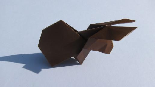 простой кролик из бумаги