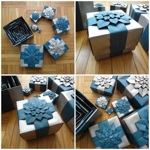 Подарочная коробочка с гортензией от Dasa Severova и Shuzo Fujimoto