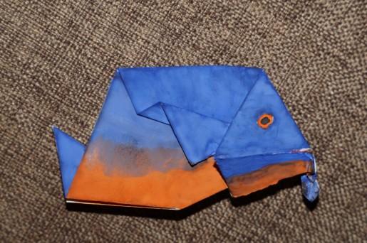 Оригами пиранья от Егора Гаврилкова