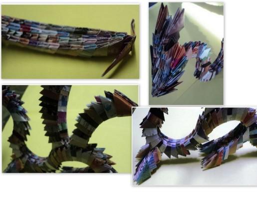 сборка частей дракона