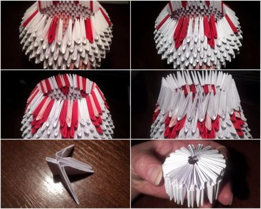 Чайный сервиз в технике модульного оригами