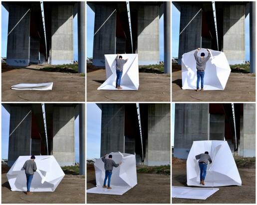 оригами палатка