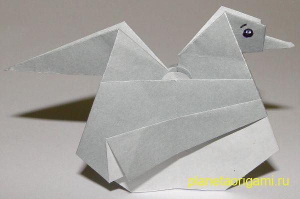 курица несущая яйца оригами
