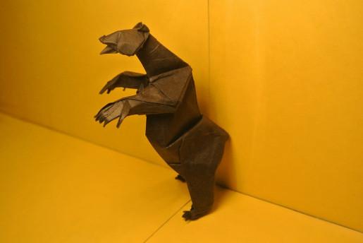 оригами мишка гризли