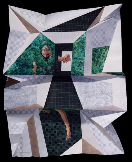 Сочетание оригами и акварели: творческое решение от Marcelo Daldoce
