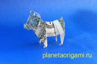 бульдог из доллара
