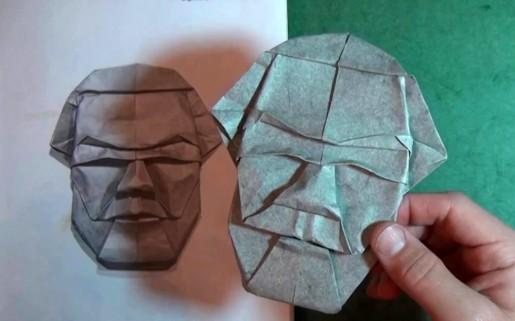 оригами маска Akira Yoshizawa