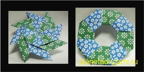 Origami Magic Star Ring по схеме Robert Neale