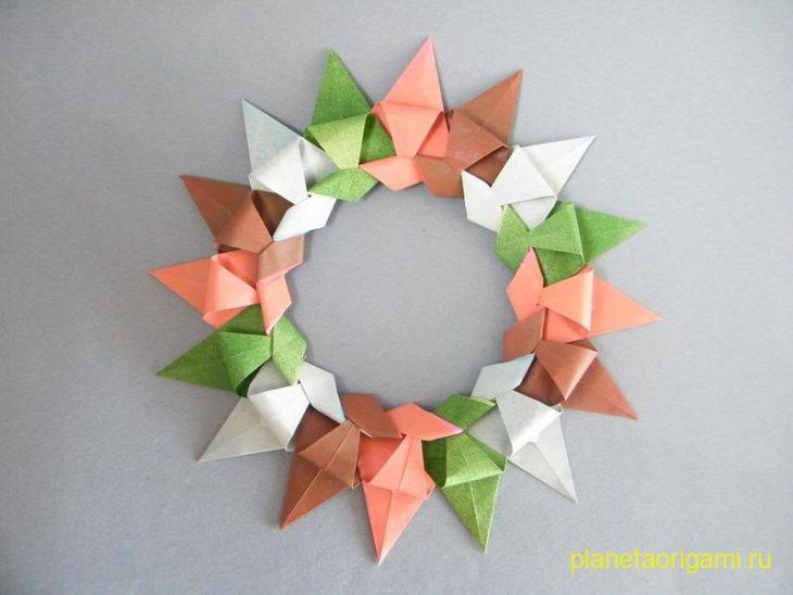 Origami Wreath -Corona Modular