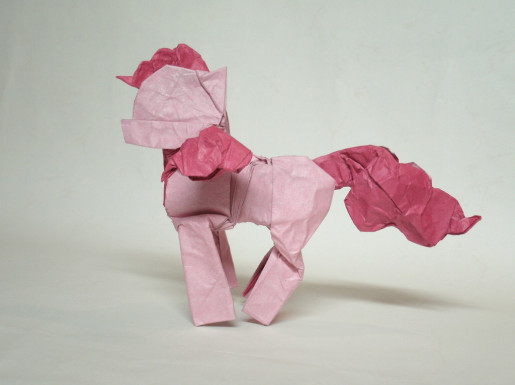 Pinkie Pie оригами лошадка