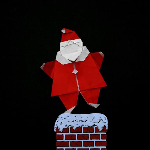 оригами Santa Peter Engel