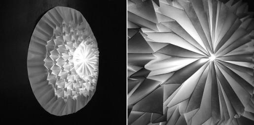 оригами светильник
