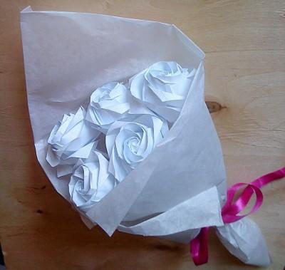 букет из бумаги своими руками