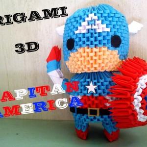 Капитан Америка из треугольных модулей