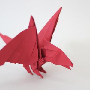 Оригами дракон по схеме Tadashi Mori