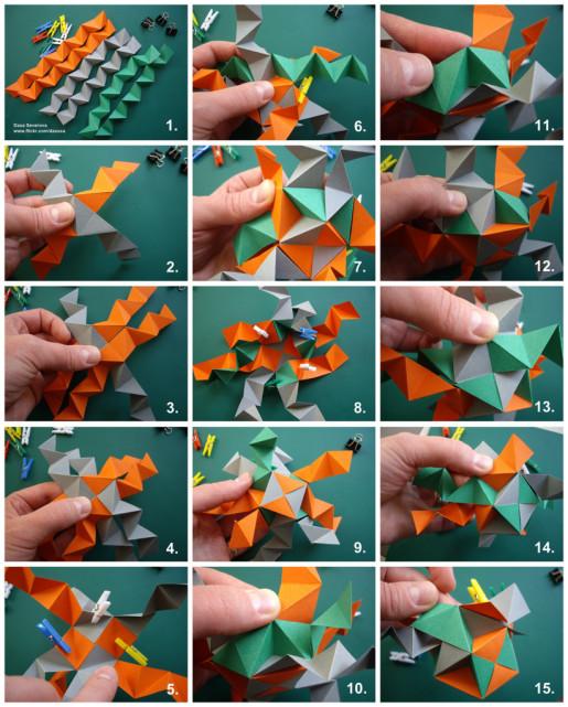 кубооктаэдр схема сборки