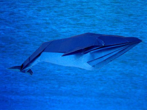 оригами синий кит