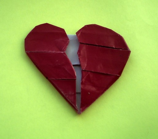 разбитое сердце оригами