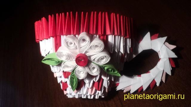 Модульное оригами схемы чайного сервиза