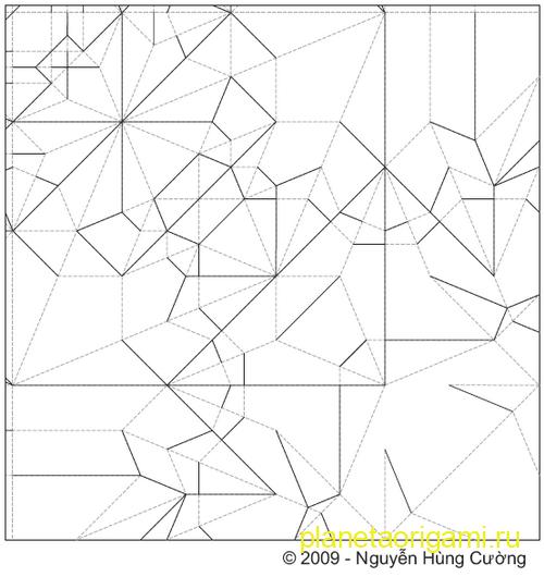 паттерн по сборке гориллы оригами