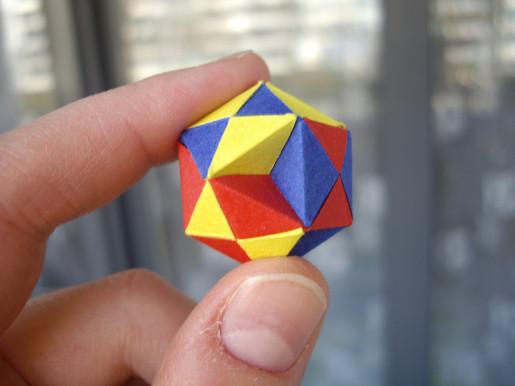 кубооктаэдр из бумаги