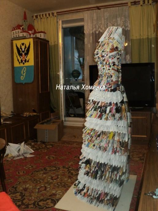 платье модульное вид сбоку