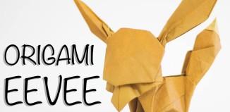 Покемон Иви из бумаги по схеме Tadashi Mori